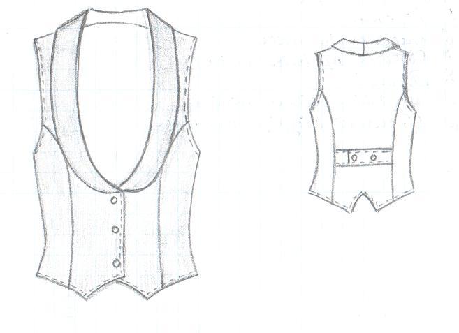 Эскиз женской одежды
